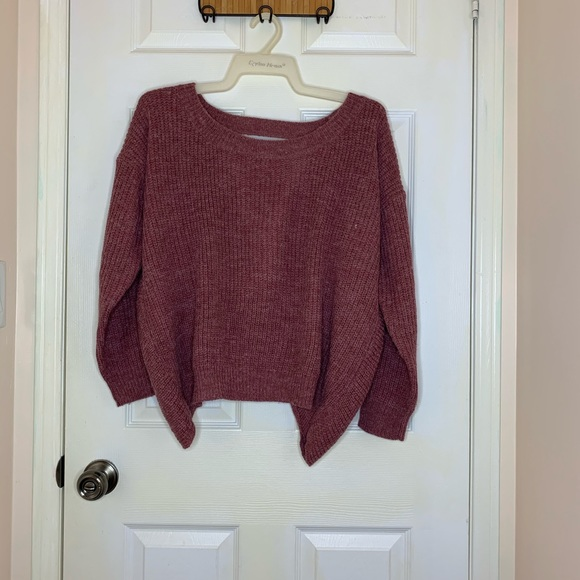 Mauve Sweater with open back
